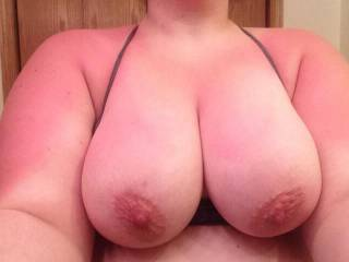 Thanks for sharing those beautiful pink nipples. They're barely budding, though. They need some lengthy and careful attention from a loving and caring tongue so that your nerve endings tingle and your passion just begins to grow. Thanks, sexy, appreciate you posting.