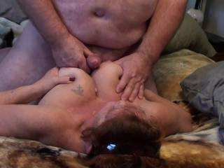 This was a less than 2 minute video that I slowed down to 1/4 Speed to show how nice those big tits look as I play with them.  So what do you think? Did video/could video make you cum?  See her turn her head on that first shot?  Still ended up on her face