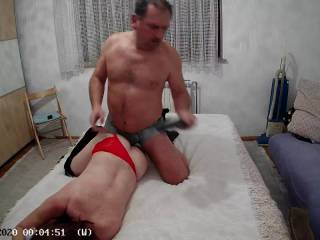 Love to watch what I do, here\'s a little clip of me in action with my submissive girl. Enjoy the night vision of my cam