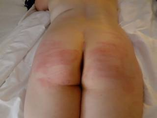 First time being punished with the cane, loved the sting on my ass for days