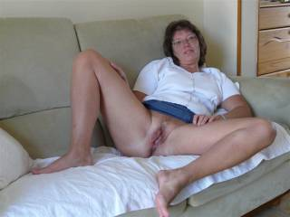 They just get in the way of kissing your lovely pussy ... (no panties,.. thumbs and dick's up..;-)