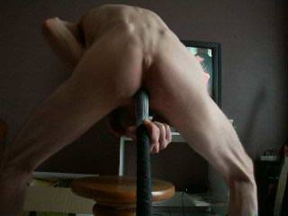 i was so horny ans it was so long ago that i took one up the ass. not as nice as a real cock, but i enjoyed it.