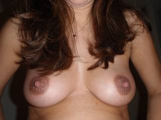 Mmmmmmmmmmmmmm..;) You have some very beautiful and luscious breasts..;) Would lovve to firmly grasp them together and caress and suckle them until you can no longer take it;)  Get in touch;)