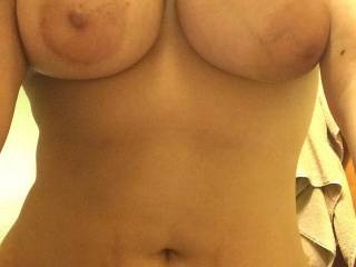 Mmm... I'd love to suck and lick your nipples as you ride me ;)