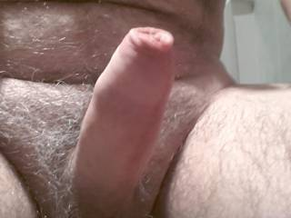 Beautiful uncut cock.  I'd like to give you a helping hand.