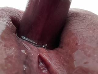Another scary close-up of my pussy with my clit being pumped..!😁