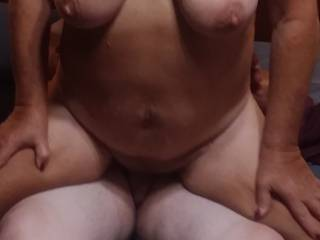Friend's wife riding my reverse cowgirl as my cock was deep inside her tight pussy.