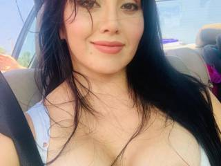 We were driving in the car and I said to my wife that it had been a long time since we took a pic or vid for Zoig, so she took out her tits and took this selfie. Hope you guys enjoy