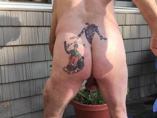 """""""Where WAS Waldo"""" was my first tattoo.  I got it with my wife\'s permission.  The """"Spare the Paddle;  Spoil the Husband"""" tattoo was designed by her, and I was ordered to get it - or be spanked.  It says everything about our relationship!"""