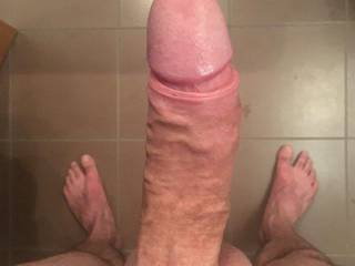 after shower and shaving