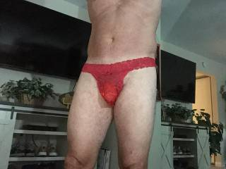 My new undies feel so good .Who wants to take them off me?