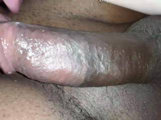 Hard chocolate cock waiting for the sexy wife to ride
