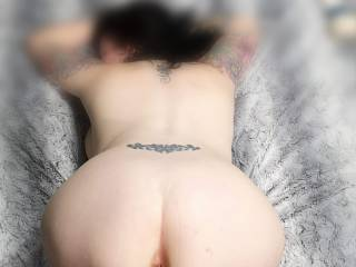 Fully naked bent over waiting for a big cock . Who would like to fuck that ass