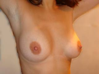 those are really nice....just slightly bigger than mine, but i like your nipples better.