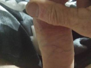 Nice smooth cock. Like to see my wife sucking it