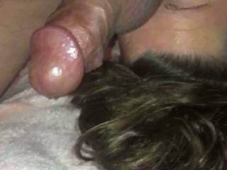 Getting my ass licked and tongue fucked by sub. She loves giving rimjobs