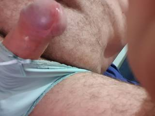 Started to dribble in sexy panties