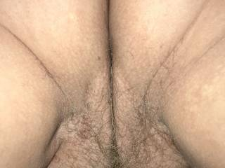 Wife's beautiful pussy and ass close up. Can you smell it?