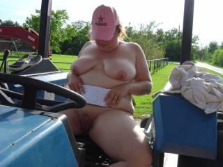 hmmm sexy you can ride my large blue throbbing thing anyday ...hmmm oh and Mrs wants to know if the tractor vibrations feel goooooooood