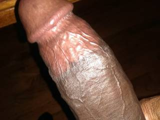 Oooooo, that's a beautiful cock.  I'd love to be filled up with that.  I'd want to suck it first.  Mrs. K