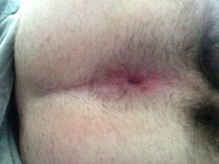 Love to see my cum dripping out of you're man cunt!