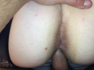 My man bending me over and fucking me from behind. Who wants to bend me over and fuck me till you cum in my pussy ,while your wife cums on my face??