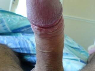 MY HUBBYS BIG HARD COCK READY FOR PUSSY.