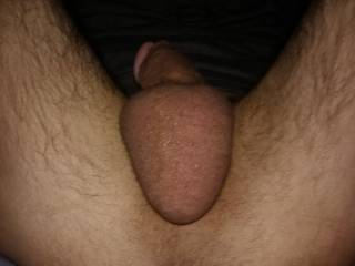 In this picture, i took it to see for myself up close to realy see how big my balls were. Who else  thinks so. Any comments