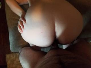 Love fucking my wife on our couch! Anyone else wanna fuck this tight pussy?