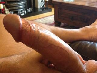 Mmmmm, I'd love to lick it all over, suck it then feed it into my sexy gals cock hungry cunt and watch you fucking her like a slut..then you can cum all over my cock while I wank off..