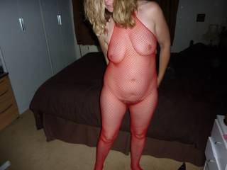 Lucky friend getting to play with your gorgeous body, love the sexy body stocking too, looks like it's going to be a great night.