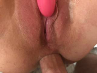 She loves my dick in her ass. Once she gets excited her pussy juice flows and its all the lube we need.