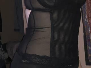 Just me in black lingerie