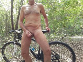 I love jerking my cock outdoors.
