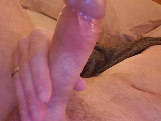 Love stroking my hard cock