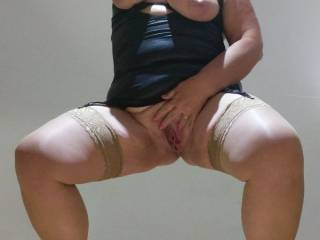 My dirty slut wife Jane has no shame and loves to advertise her wares for young hung studs to come fuck her married pussy