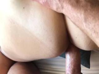 The neighbors might have seen my hard cock cum