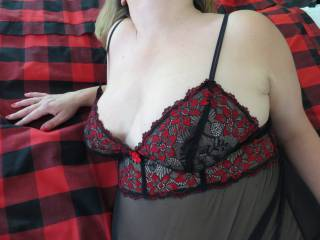 Trying out new lingerie