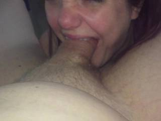 Right before she manages to clog her throat with the rest like a good slut