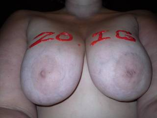 Id love to fuck those huge beautys of yours,Till cum all over them,