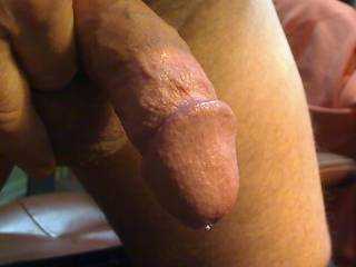 Would be a great start to taste this drop cumming out of your gorgeous dick... and would be an even greater end to suck you dry!!!