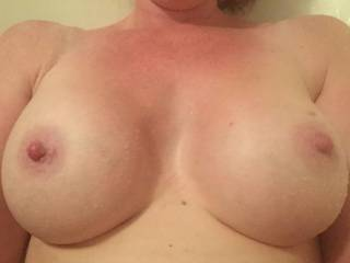 Im about to cum all over those sweet tits!