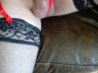 Just waiting for you to sit right on top of me in your stockings and lingerie.