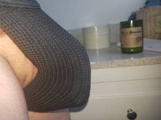 I really need to Google if they make jock straps for men with jumbo-sized packages. I honestly feel more comfortable in these when I work out, but if I spring a semi erection like here, let\'s just say my cock and balls feel claustrophobic.