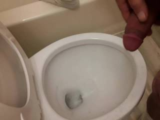 Jerked off a quick one in the bathroom.
