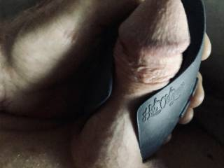 Vibrating my cock to start the morning.