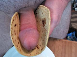 Does anyone have some creamy hot sauce to shoot on this cock taco?