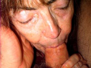 Sadly, I guess I\'m starting to look my age in this very recent photo. But my husband says that I still look good with a cock in my mouth. Do you agree?