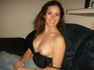 You are very pretty and have a very pretty smile and that is one hot set of tits. Thanks for sharing.
