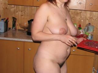I'm hungry for you. LOVE your hairy pussy.  Great tits too.